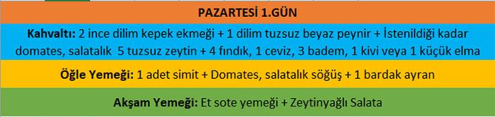 Muzaffer Kuşhan Akdeniz Diyeti 1.Gün