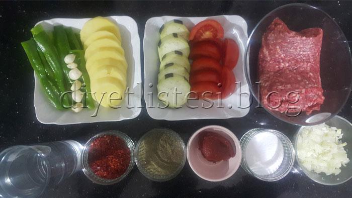 patlıcanlı köfte malzemeler