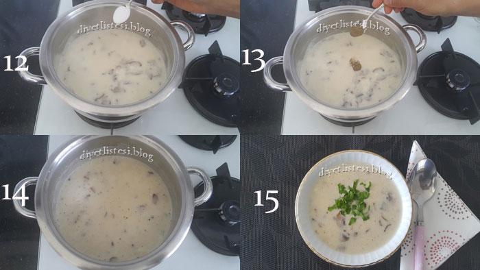 sütlü mantar çorbasi