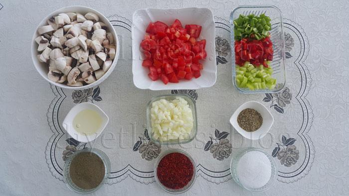 mantar sote için gerekli malzemeler