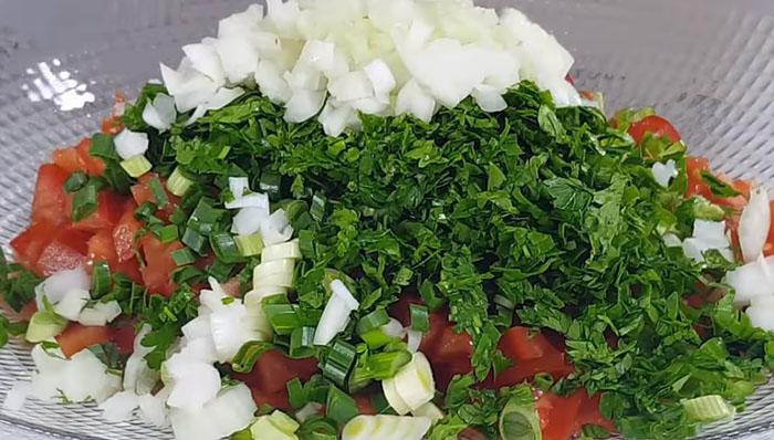 Gavurdağı Salatası Malzemeleri