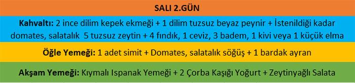 Muzaffer Kuşhan, Ender Saraç, Beslenme Programı