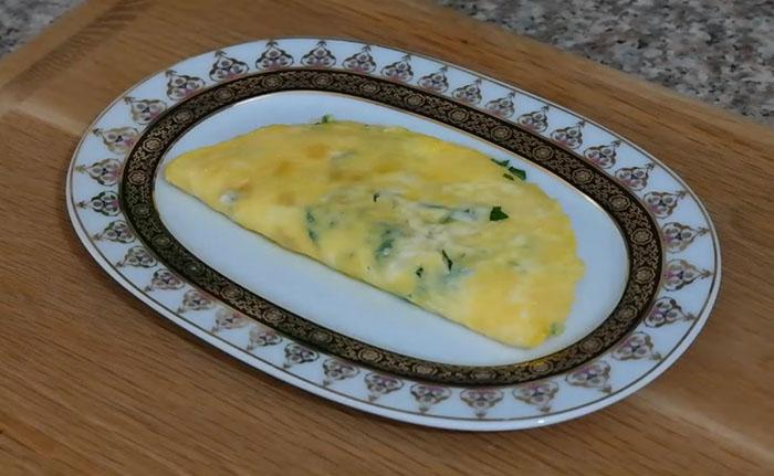 Kolay Peynirli Omlet