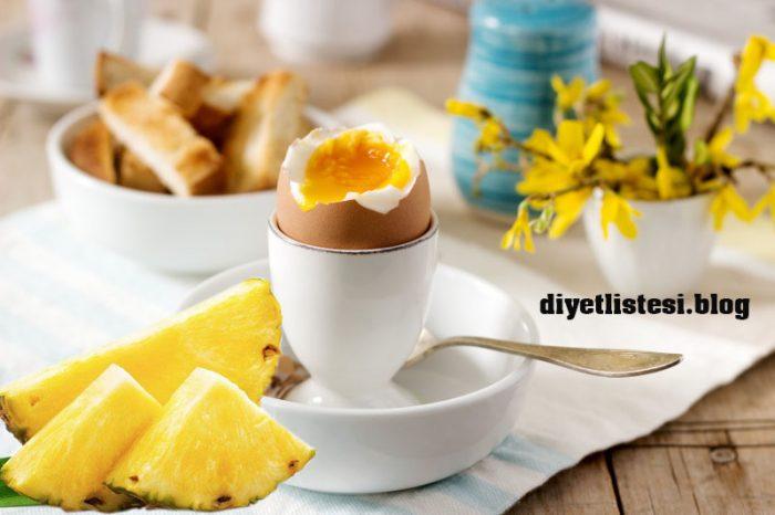 ananas ve yumurta diyeti