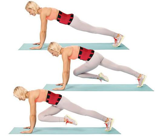 Push-up-and-Knee-Kick-karantina-egzersiz-diyetlistesi